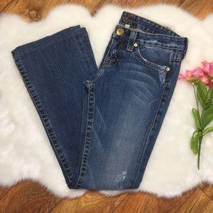 Bebe gold rhinestones jeans